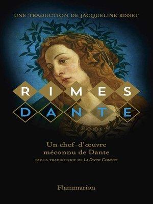 cover image of Rimes, édition bilingue