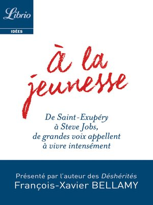 cover image of À la jeunesse
