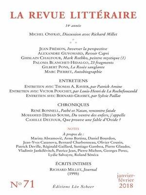 cover image of La Revue Littéraire N°71