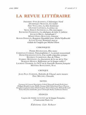 cover image of La Revue Littéraire N°1