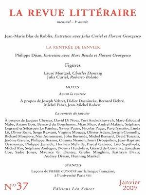 cover image of La Revue Littéraire N°37