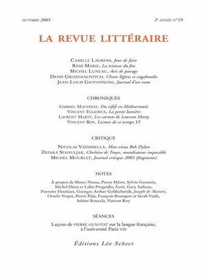 cover image of La Revue Littéraire N°19