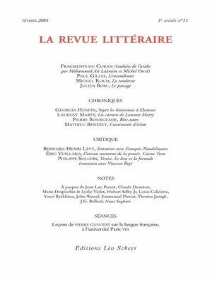 cover image of La Revue Littéraire N°11