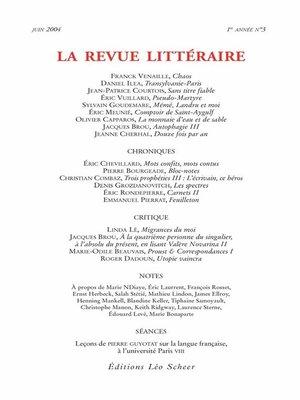 cover image of La Revue Littéraire N°3