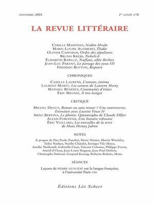 cover image of La Revue Littéraire N°8