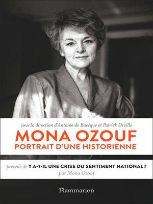 cover image of Mona Ozouf. Portrait d'une historienne