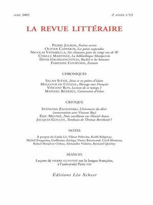 cover image of La Revue Littéraire N°13