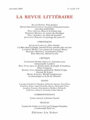 cover image of La Revue Littéraire N°9