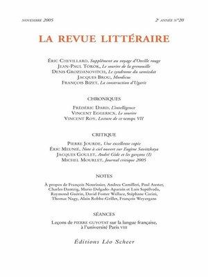 cover image of La Revue Littéraire N°20
