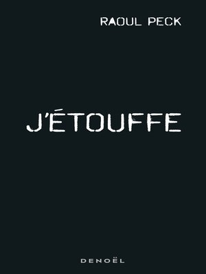 cover image of J'étouffe