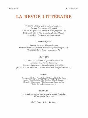 cover image of La Revue Littéraire N°24