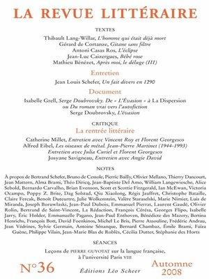 cover image of La Revue Littéraire N°36