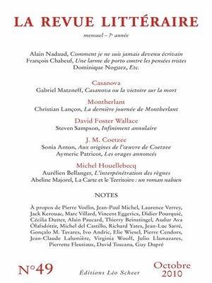 cover image of La Revue Littéraire N°49