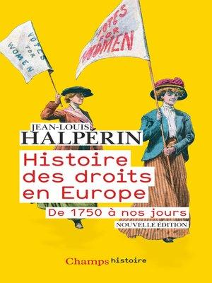 cover image of Histoire des droits en Europe