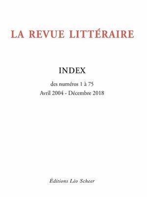 cover image of La Revue Littéraire Index (gratuit)