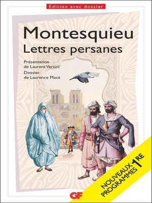 cover image of Lettres persanes