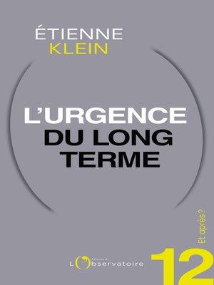 cover image of Et après ? #12 L'urgence du long terme