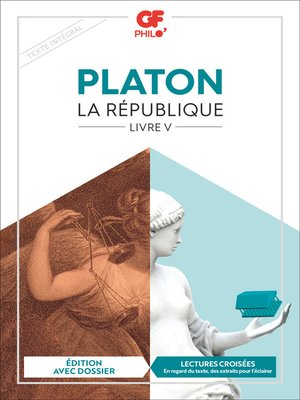 cover image of La République, Livre V