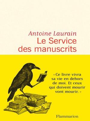 cover image of Le Service des manuscrits