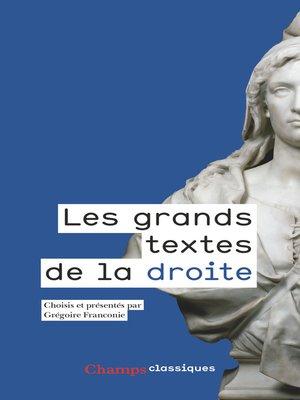 cover image of Les grands textes de la droite