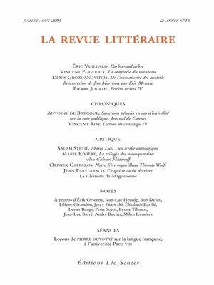 cover image of La Revue Littéraire N°16