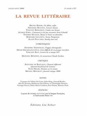cover image of La Revue Littéraire N°27