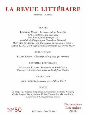 cover image of La Revue Littéraire N°50