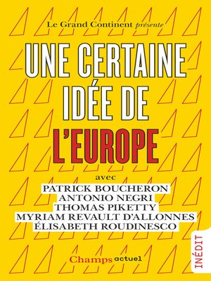 cover image of Une certaine idée de l'Europe