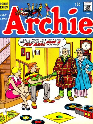 cover image of Archie (1960), Issue 192