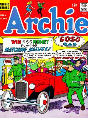 cover image of Archie (1960), Issue 183
