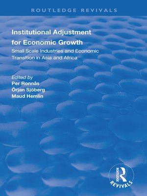 cover image of Institutional Adjustment for Economic Growth