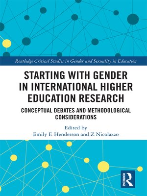 cover image of Starting with Gender in International Higher Education Research