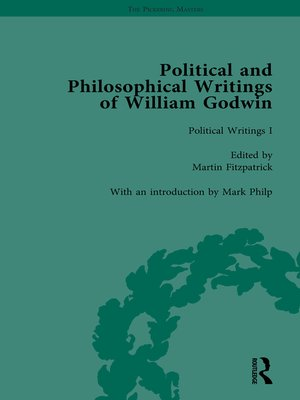 cover image of The Political and Philosophical Writings of William Godwin vol 1