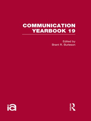 cover image of Communication Yearbook 19