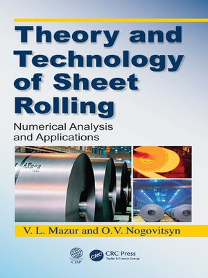 cover image of Theory and Technology of Sheet Rolling