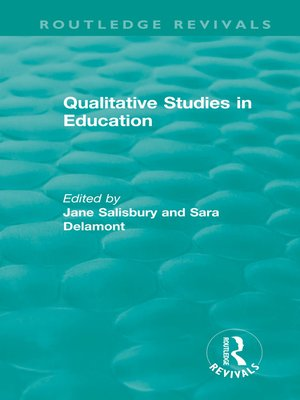 cover image of Qualitative Studies in Education (1995)