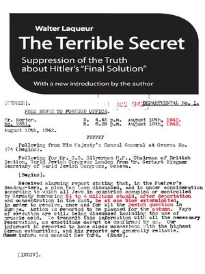 cover image of The Terrible Secret