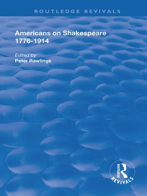 cover image of Americans on Shakespeare, 1776-1914