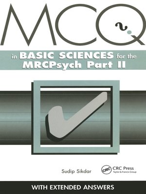 cover image of MCQs in Basic Sciences for the MRCPsych, Part Two
