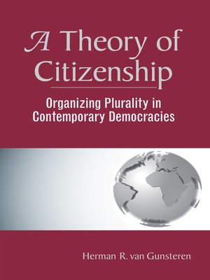 cover image of A Theory of Citizenship