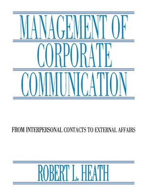 cover image of Management of Corporate Communication