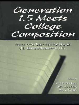 cover image of Generation 1.5 Meets College Composition