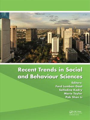 cover image of Recent Trends in Social and Behaviour Sciences
