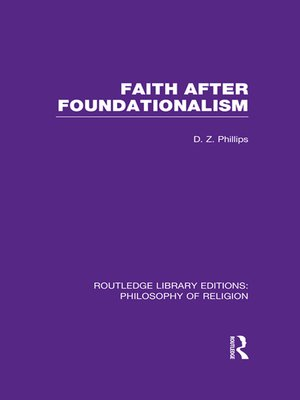 cover image of Faith after Foundationalism