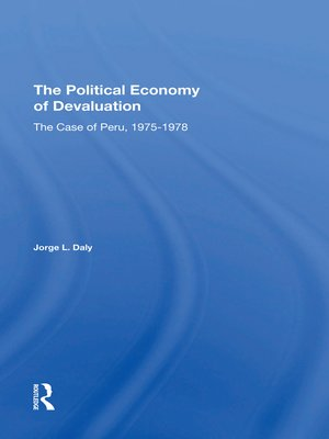 cover image of The Political Economy of Devaluation