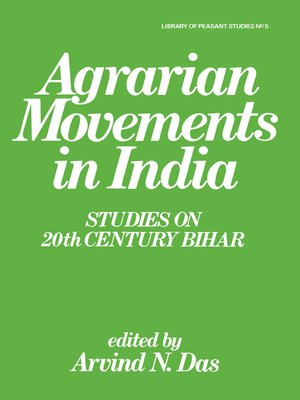 cover image of Agrarian Movements in India