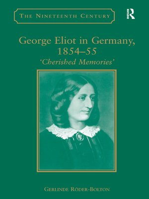 cover image of George Eliot in Germany, 1854–55