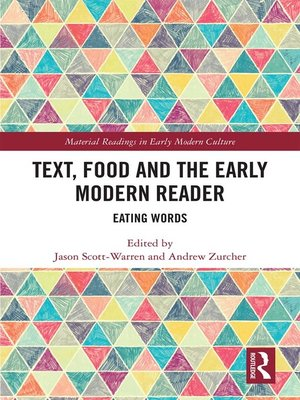 cover image of Text, Food and the Early Modern Reader
