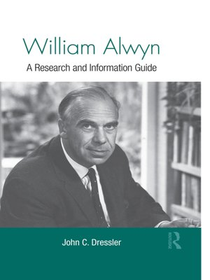 cover image of William Alwyn
