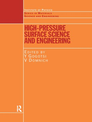 cover image of High Pressure Surface Science and Engineering
